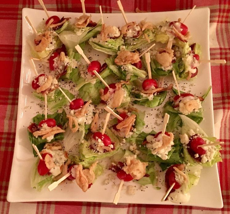 Wedge Salad Party Bites