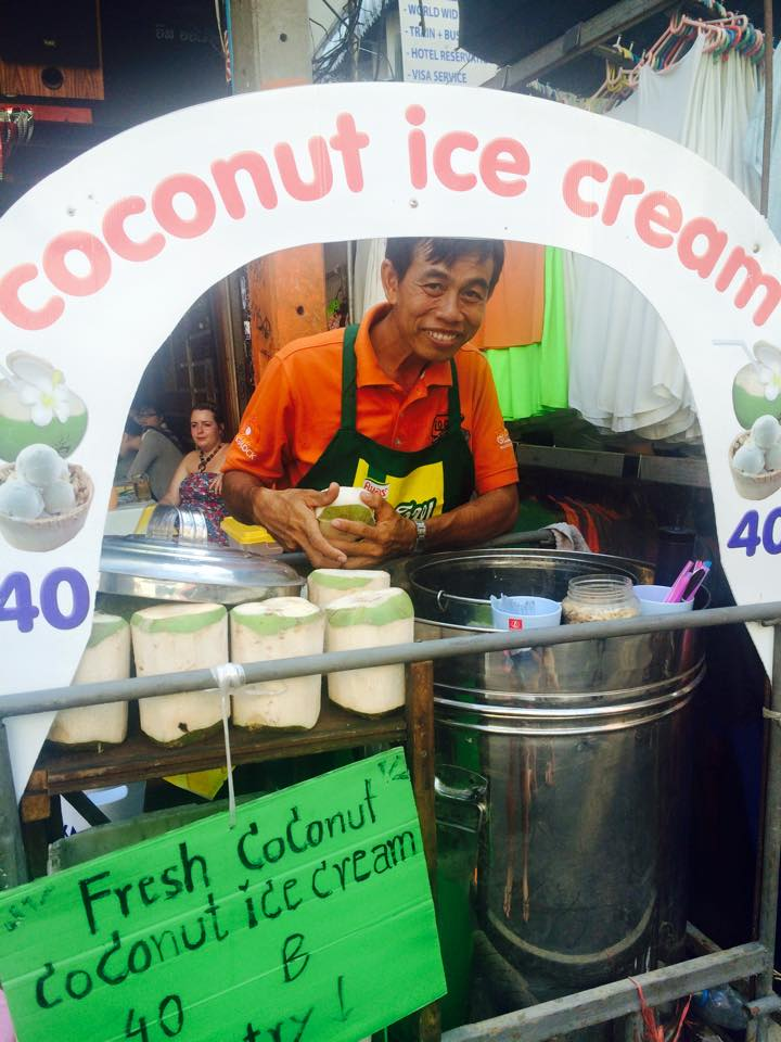 Homemade Coconut Icecream Thailand