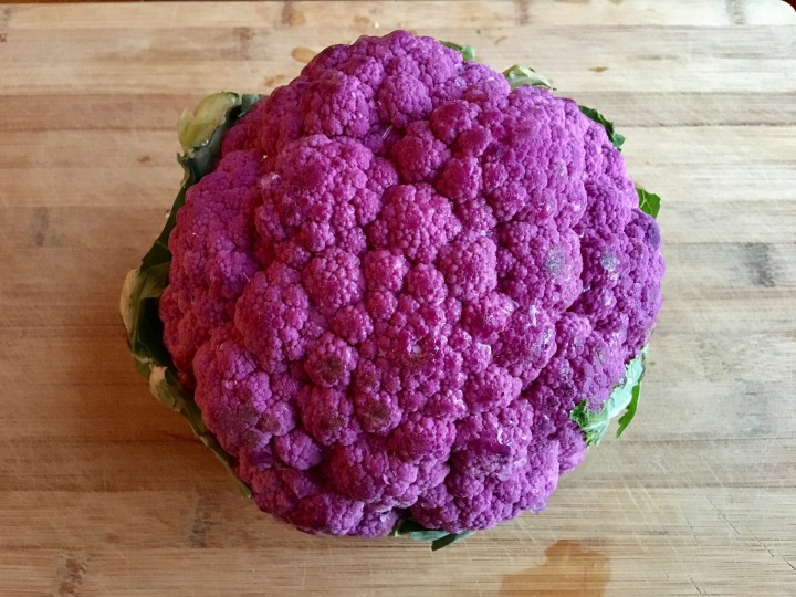 """Cheesy"" Roasted Purple Cauliflower"